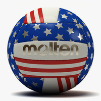 molten usa flag volleyball 3d dxf