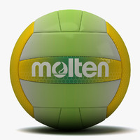 molten recreation volleyball 2 3d dxf