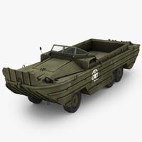 3d dukw amphibious truck model