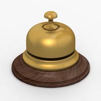 reception bell 3d max