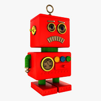 toy robot 3d 3ds