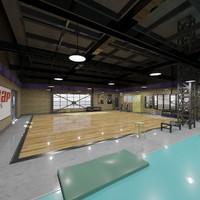 fitness hall 3d model