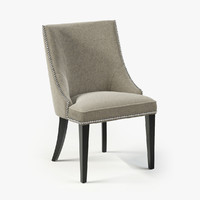 3d model eichholtz chair bermuda