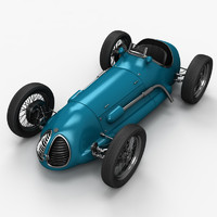 3d old race car