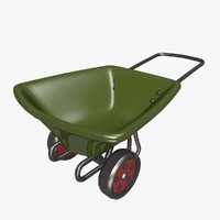 cartoon wheelbarrow 3d model