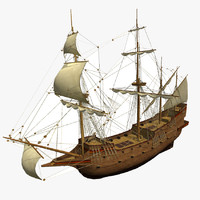 3d hms galleon s model