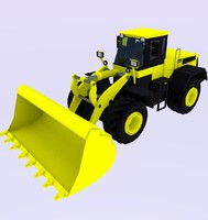 3ds wheel loader load