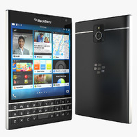 3d black berry passport model