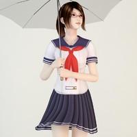 posed natsumi school 3d model