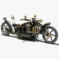 3d steampunk concept