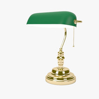 banker lamp desk 3d 3ds