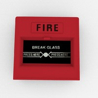 3d model emergency alarm button