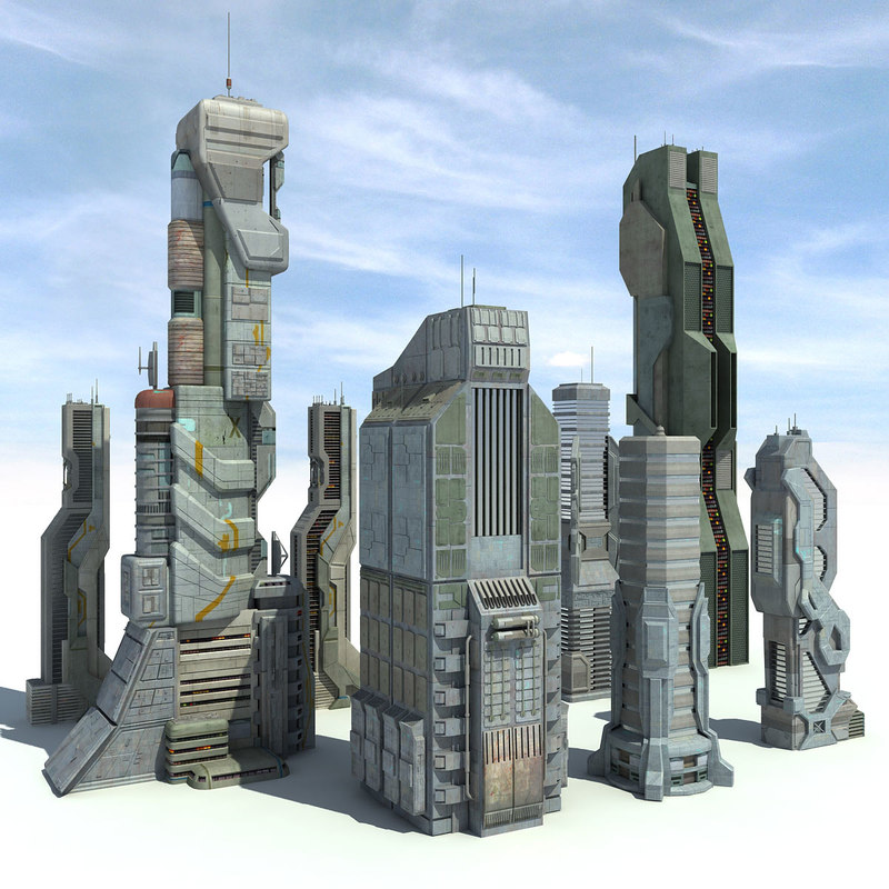 Max sci fi futuristic city Build house online 3d free
