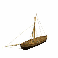3d model of fishing boat s