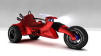 motorcycle concept 1 3d model