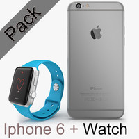 3d apple iphone 6 watch