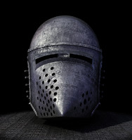 helm medieval hundsgugel 3d model