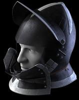 burgonet medieval helmet reiter 3d