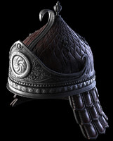 3d model fantasy helm