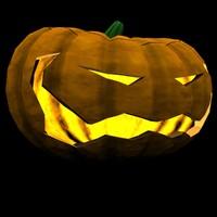 halloween jack o lantern 3d model