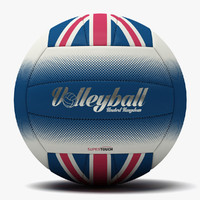 c4d volleyball uk flag ball