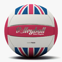 volleyball uk ball spiral 3d model