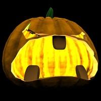 3d model jack o lantern halloween