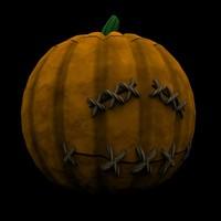 3d jack o lantern halloween model