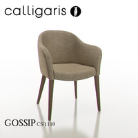 calligaris gossip dining chair 3d max