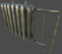 3ds max iron pipes