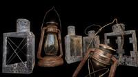 fbx glass lantern
