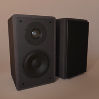 3d speakers realistic model