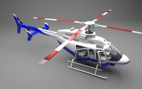 3d model bell 407gx helicopter rotor
