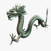 3d model of bronze chinese dragon 2