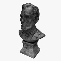 abraham stone bust 3d model