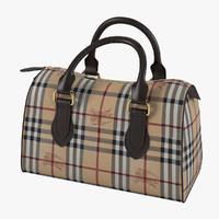 3d burberry women bag model