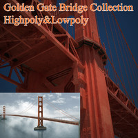 3d model golden gate bridge architecture