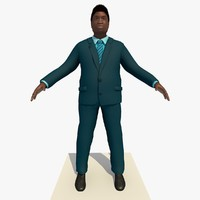 3d 3ds african male business man