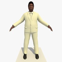 african male business man c4d