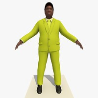 african male business man 3d model