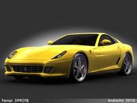 3d model ferrari 599 car