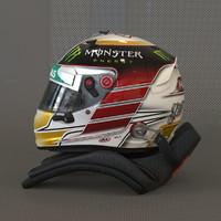 3d racing helmet lewis hamilton