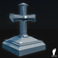 high-poly cross obj