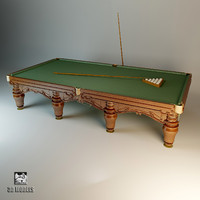 3d classic billiard model