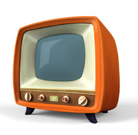 3d stylized tv model