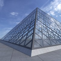 louvre pyramid 3d model