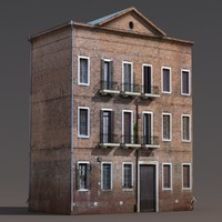 Apartment House #143 Low Poly 3d Building