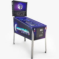 3d model pinball machine space