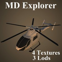 md explorer low-poly 3d model
