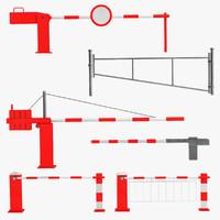 boom gates 3d model